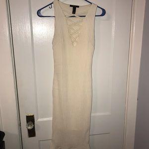 White Knit Forever 21 Dress